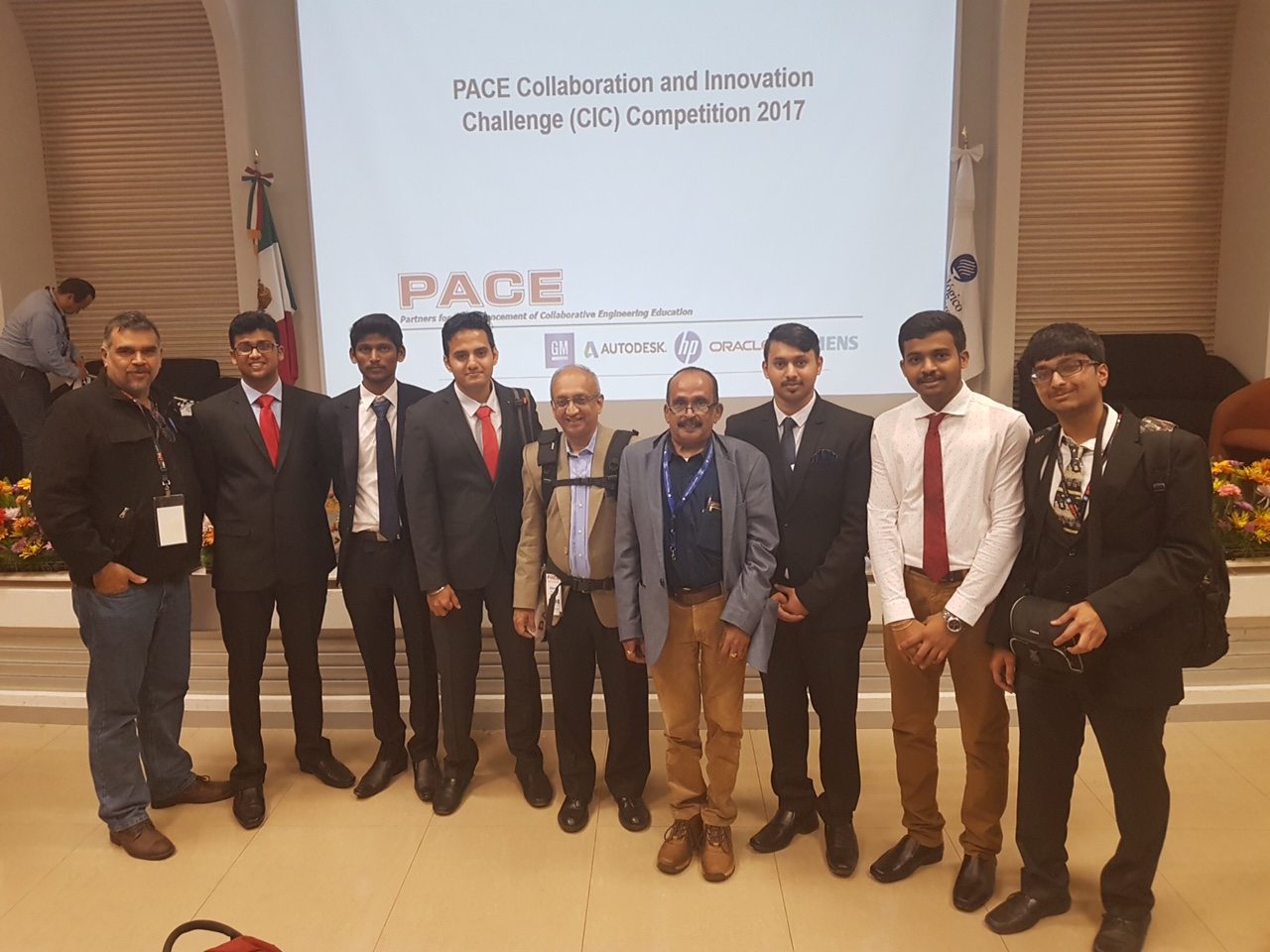 SJCE and pes cic teams along with mentors and a judge