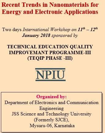 """Two day International workshop on """"Recent trends in nanomaterials for energy and electronic applications"""""""