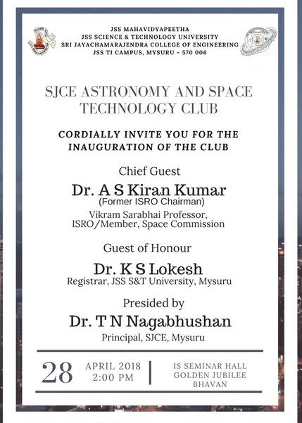 Inauguration of Astronomy and Space Technology Club