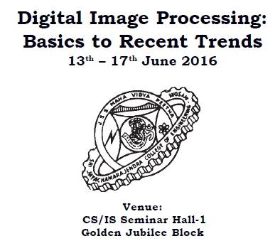 Workshop on Digital Image Processing