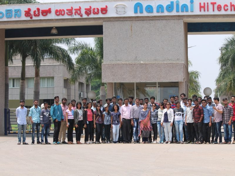 Industrial Visit to Nandini Hi-tech Products Chennarayapattana