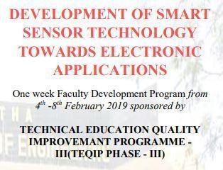 DEVELOPMENT OF SMART SENSOR TECHNOLOGY TOWARDS ELECTRONIC APPLICATIONS