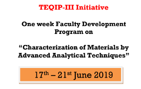 One Week FDP on Characterization of Materials by Advanced Analytical Techniques