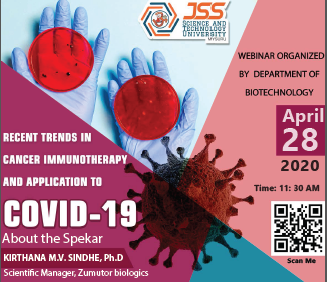Webinar – Recent Trends in Cancer Immunotherapy and application to Covid-19