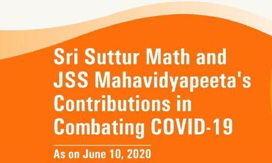 Sri Suttur Mutt and JSS Mahavidyapeetha combat COVID-19 pandemic